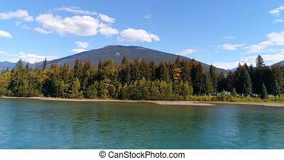góra, 4k, sceniczna rzeka, okolica