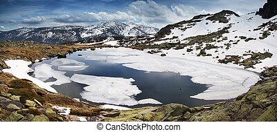 góra,  guadarrama, od,  -,  Sierra, Hiszpania