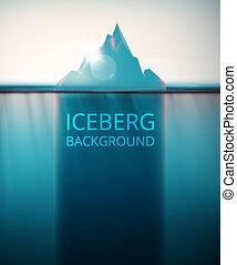góra lodowa, tło