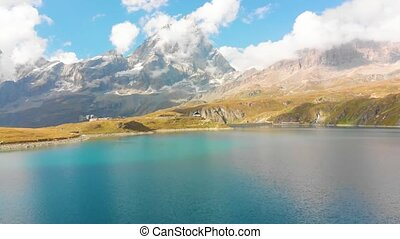 góra, matterhorn, jezioro, piękny