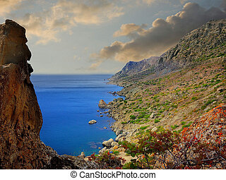 góra, prospekt morza