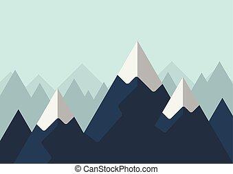 góra, styl, płaski