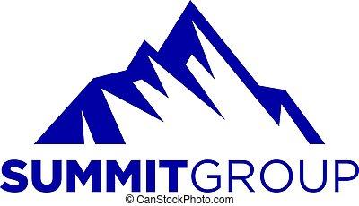 góra, symbol, ilustracja, wektor, projektować, szczyt