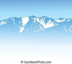 góra, tło