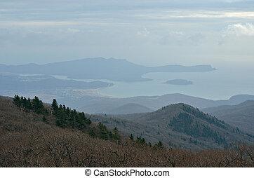 góra, tajga, krajobraz, 6