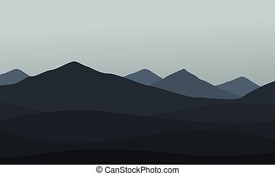 góra, wektor, zbiór, krajobraz