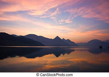 góra, wschód słońca