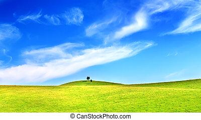 górki, i błękitny, niebo