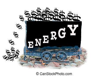 górnictwo, wydatki, energia, dolar, energia, nauka