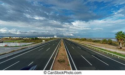 górny, autostrada, morze, upływ czasu, prospekt