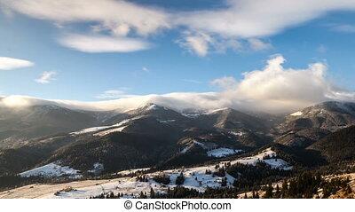 góry, śnieżny