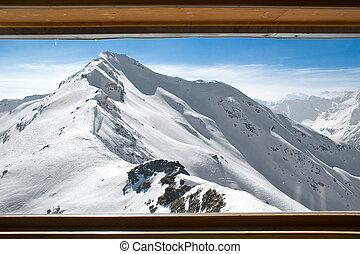 góry, śnieg capped