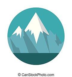 góry, śniegowa scena