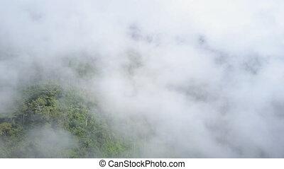 góry, chmury, prospekt