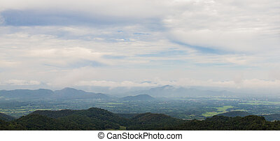 góry, dymny, prospekt, tajlandia