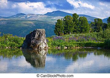 góry, jezioro