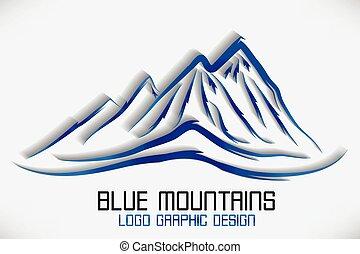 góry, logo, wektor, logotype