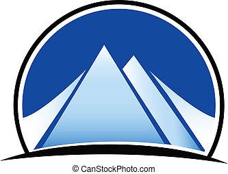 góry, logo, wektor