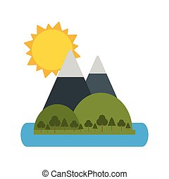 góry, słońce