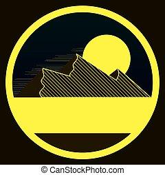 góry, symbol, linearny