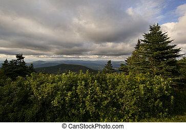 góry, vermont, ku, obsada, patrząc, szczyt, zielony, massachusetts, greylock, prospekt, poza, western