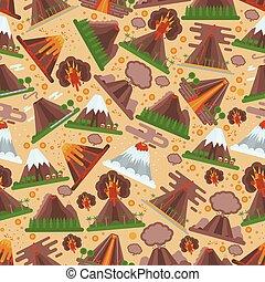góry, wulkaniczny, wybuch, natura, próbka, tapeta, wybuch,...