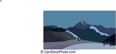 góry, zima krajobraz