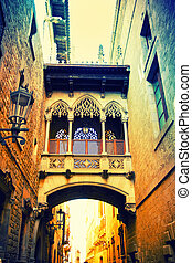 gót, negyed, alatt, barcelona