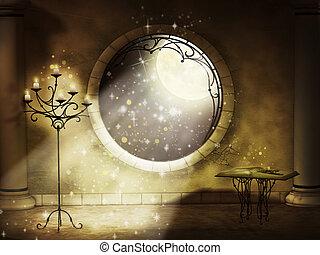 gót, varázslatos, éjszaka