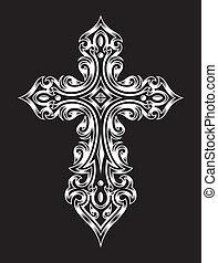 gótico, crucifixos