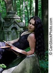 gótico, menina
