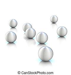 gömb, elvont, 3, vakolás
