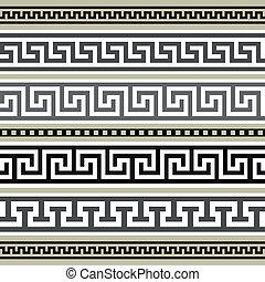 görög, geometriai, állhatatos, határok