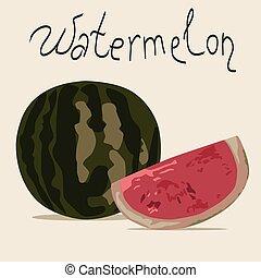 görögdinnye, ábra, vektor