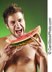 görögdinnye, ember