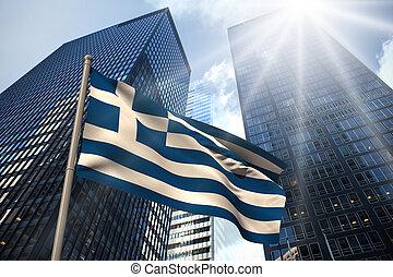 görögország, nemzeti lobogó