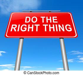 göra, den, rättighet, thing.