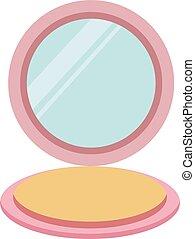 göra, illustration, vit, spegel, vektor, bakgrund., uppe