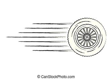 gördít, autó, gyorsaság, megvonalaz, autógumi