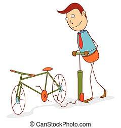 gördít, bicikli, szivattyúzás