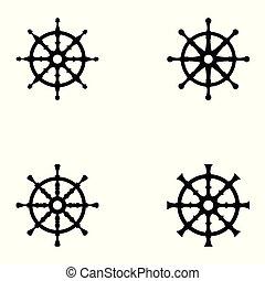 gördít, hajó, állhatatos, ikon