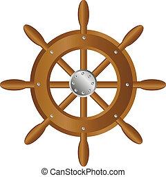 gördít, hajó, kormányzó