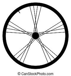gördít, vektor, ábra, bicikli, háttér, fehér