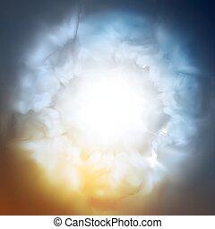 göttlich, abstrakt, hintergrund, himmelsgewölbe