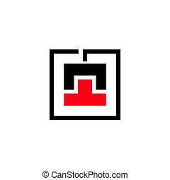 güter, abstrakt, laden, entladung, zeichen