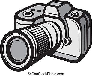gęsty aparat fotograficzny, cyfrowy