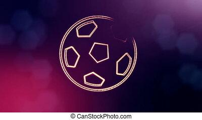 głębokość, hologram.., kopia, tło, ogień, 3, vitrtual, seamless, space., cząstki, robiony, bokeh, tłumaczenie, pole, fiołek, 3d, piłka nożna, ożywienie, ball., ikona