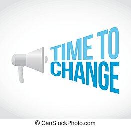 głośnik, wiadomość, czas, zmiana, znak