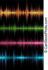 głos muzyka, fale