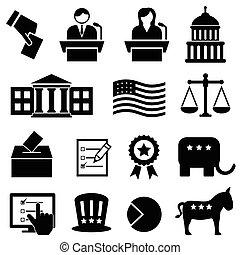 głosowanie, wybór, ikony